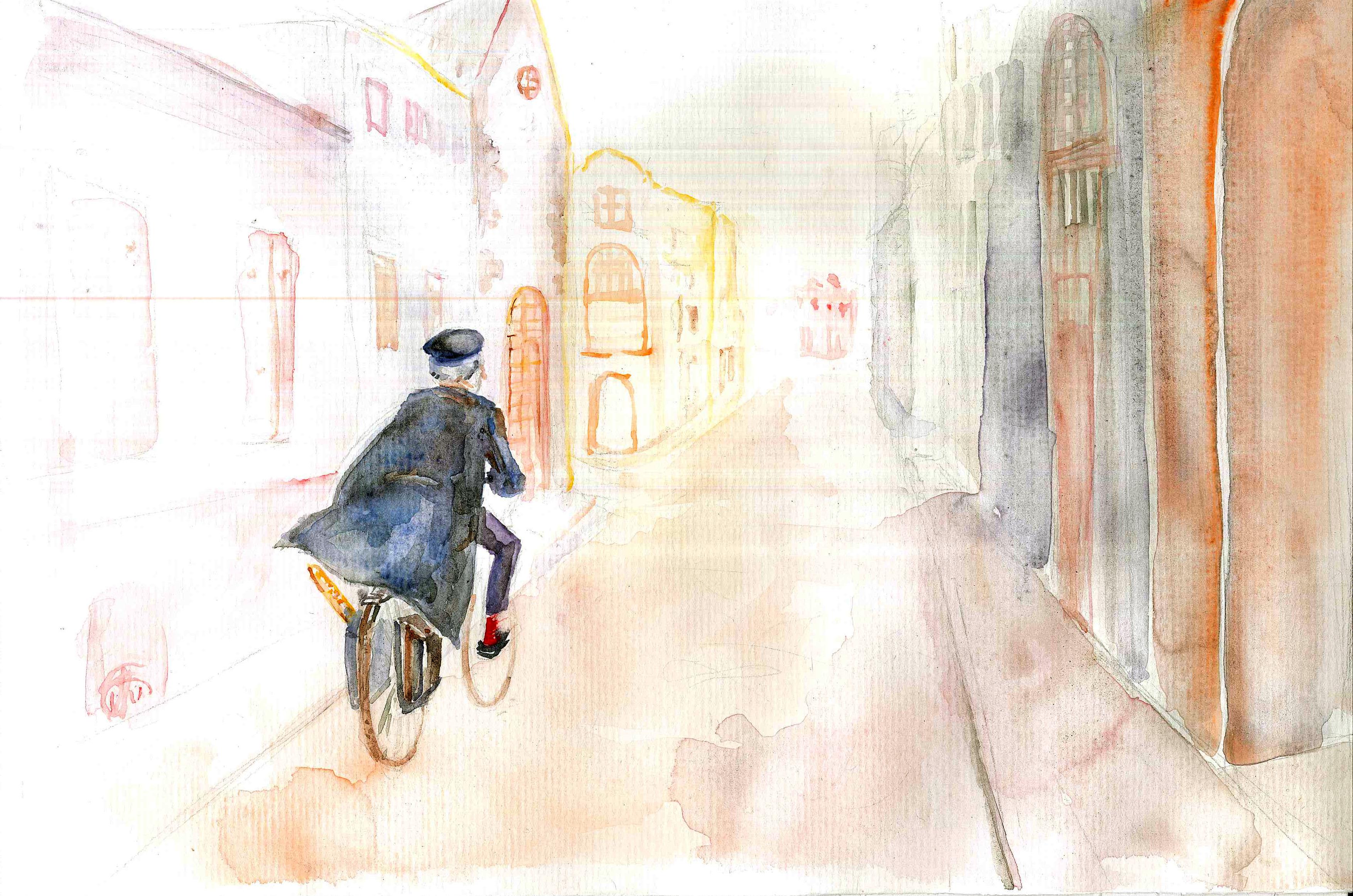 l'homme au vélocipède